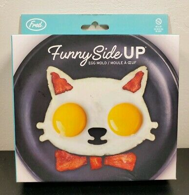 """Fred & Friends """"Funny Side Up"""" Cat Silicone Egg Mold"""
