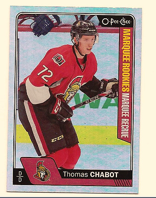 Thomas Chabot 2016-17 Upper Deck Series 2 O-Pee-Chee Opc Update Rainbow Foil