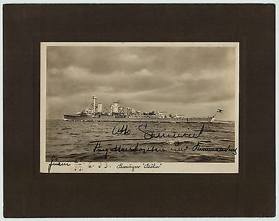 RARE Signed Autograph Photo - 1933 WWI WWII German Gen Admiral - Otto Schniewind