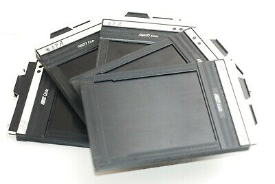 Lot of 5 Fidelity Elite Cut Film Holder Back size 4x5 In Excellent from Japan .