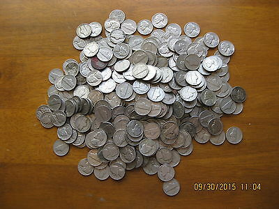 Lot of 138 collectible old Jefferson nickels 1940s & 1950s nickle rolls nickel !