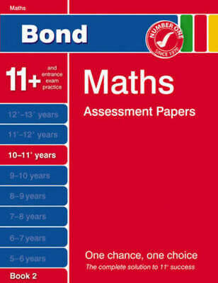 Bond Maths Assessment Papers 10-11+ Years Book 2 by David Clemson (Paperback /