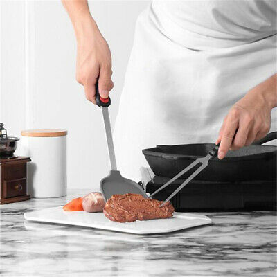 Non-stick Silicone Spatula Stainless Steel Handle Wok Shovel Home Utensils B