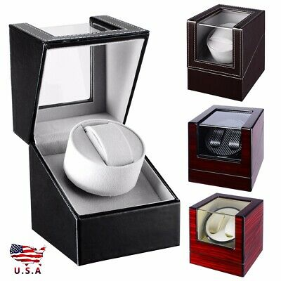 Automatic Single Dual Watch Winder Wood Display Box Storage Case Japan Motor US
