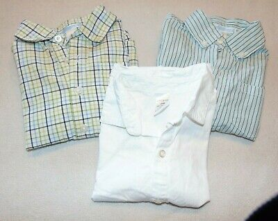 3 Lot Boy's Long Sleeve Shirts Size 18-24 Months Janie and Jack, George