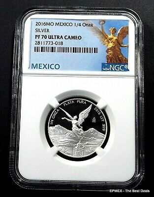 ☆☆ 2016 Mo Mexico 1/4 oz Silver Proof Libertad NGC PF70 UCAM ~ Libertad Label ☆☆