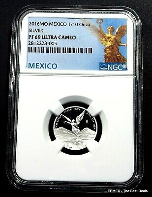 ☆☆ 2016 MO Mexico 1/10oz Silver Proof Libertad NGC PF69 UCAM - Libertad Label ☆☆