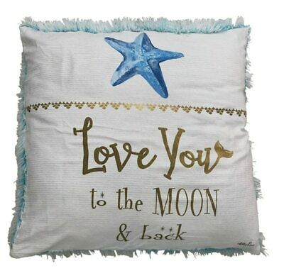 Kelly Lane Mermaid Polyester Square Cushion Love You To the Moon and Back Pil...