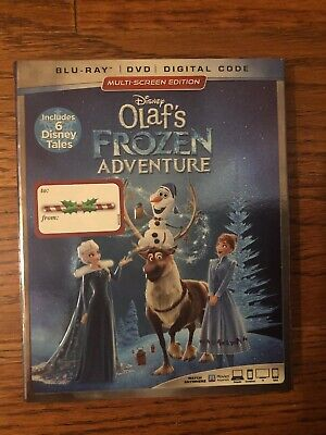 Disney Olaf's Frozen Adventure (Blu-Ray/DVD/Digital Code) 2016 BRAND NEW!!