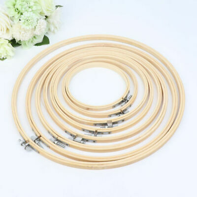 Wooden Cross Stitch Machine Embroidery Hoop Ring Bamboo Sewing 13-24cm