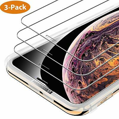 3-Pack Syncwire for iPhone X XS iPhone XS MAX Screen Protector Tempered Glass HD