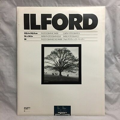 """Ilford 16 x 20"""" in. Multigrade IV RC Deluxe MGD.44M B&W Pearl Paper 10 Sheet"""