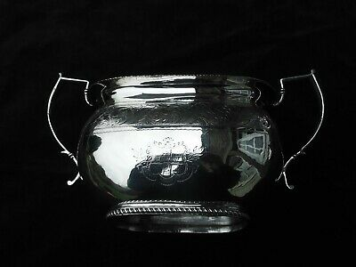 1824  fine Georgian Irish silver bowl by Edward Power great armorial and motto