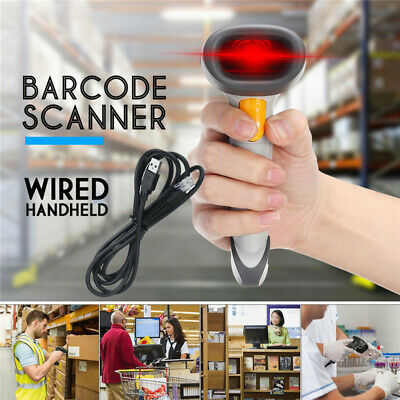 Automatic USB Laser Scan Barcode Scanner Bar Code Reader Handheld for POS PC