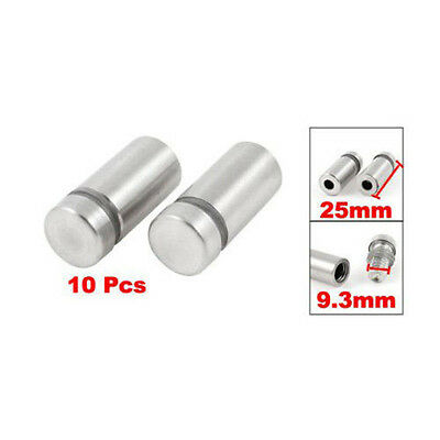 10X Stainless Stand off Bolts Mount Standoffs Sign Advertisement*Fixings Gift UV