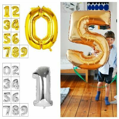 """40"""" Giant Foil Balloons Number Shape Helium Wedding Birthday Party Christmas SD"""
