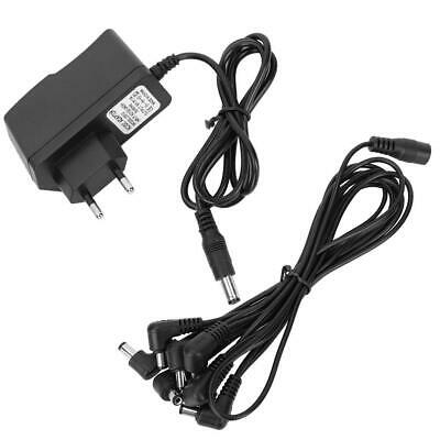 Pro 9V Guitar Effect Pedal Power Supply 8 way Daisy Chain Cable EU Adapter Set