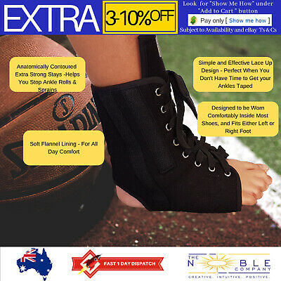 Ankle Support Brace Lace Up Sports ASO Basketball Stabilizer Sprains + Orthosis