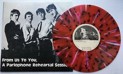 """BEATLES From Us To You, Rehearsal Session Import RARE RED MULTIColored 10"""" Vinyl"""