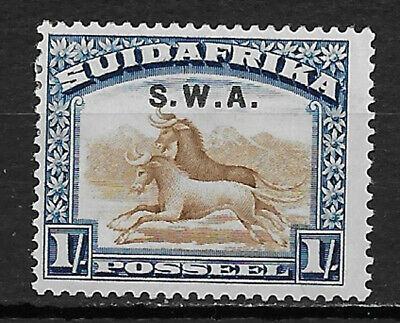 SOUTH WEST AFRICA , 1927/28 , NO. 102b , 1sh STAMP , VLH