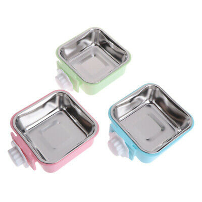 Hang-on Bowl For Pet Dog Cat Crate Cage Food Water Bowl Stainless Steel Use Part