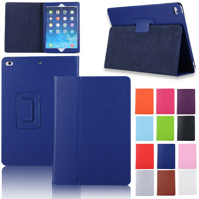For iPad 9.7 2018 6th Gen A1893 A1954 PU Leather Flip Stand Full Cover Slim Case