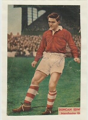 Duncan Edwards Manchester Utd 1952-58 Very Rare Original Autograph Picture
