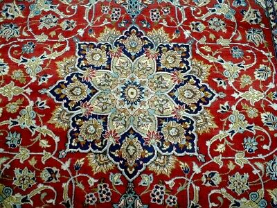 8X12 1940's MASTERPIECE MINT ANTIQUE 200KPSI WOOL PERSIAN ISFAHANN ORIENTAL RUG