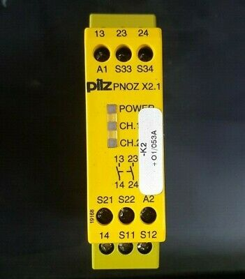 Pilz 774306 X2.1 24Vac/Dc 2N/0 Safety Relay (In19S3B3)