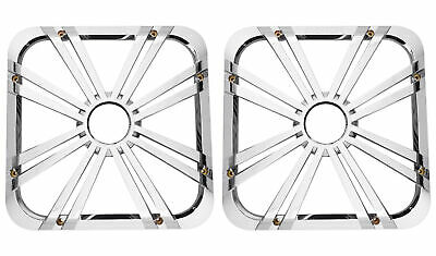 "2) Kicker 11L712GLCR 12"" Chrome Grilles w/LEDs For Solo Baric 11S12L7 Subwoofers"