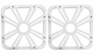 "2) Kicker 11L712GLW 12"" White Grilles w/LEDs For SoloBaric 11S12L7 Subwoofers"