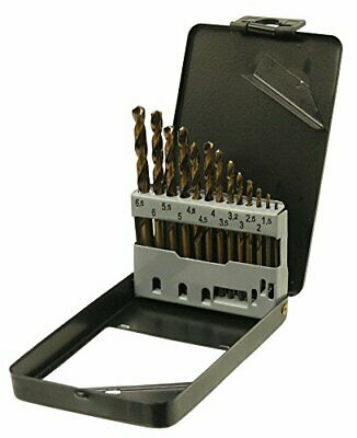 13pc HSS Metric Cobalt Drill Bit Set with Metal Storage Case