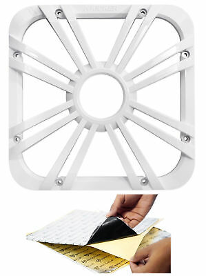 "Kicker 11L710GLW 10"" White Grille w/LED For SoloBaric 11S10L7 Subwoofer+Rockmat"