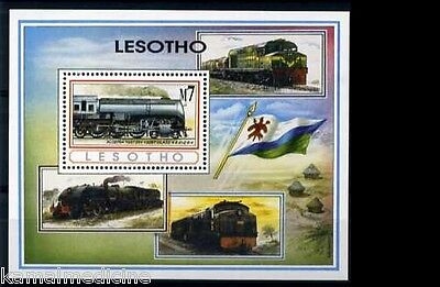 Lesotho  1993 MNH SS, Trains, Railways,  Locomotives Algeria (W2)