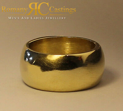 Extra Large Wedding Band Ring Cast in Jewellers Bronze  20g