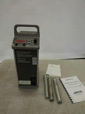 "AMETEK JOFRA Temperature Calibrator model 202 120V w 1/4 1/2"" 3/4 insertion Tube"