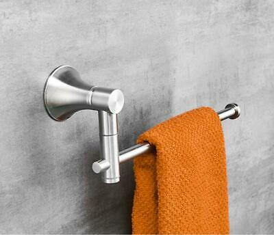Bathroom Towel Rack Swivel Rail Holder Brushed Nickel Wall Mount Hanger SUS 304