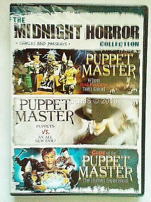 Puppet Master 4,5,6 VOL 2 Midnight Horror collection 3 on1 DVD