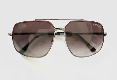 072aeccb0af4 Tom Ford FT0439 S 73T RONNIE Gunmetal Mulberry Aviator sunglasses - NEW