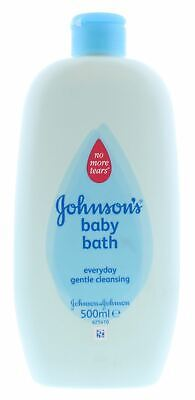 12 x Johnson's Baby Bath 500ml No More Tears Everyday Gentle Cleansing