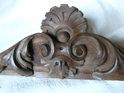 antique French Wooden Furniture Finial Door Wardrobe Top Cornice Pediment