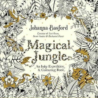 Magical Jungle An Inky Expedition & Colouring Book 9780753557167   Brand New