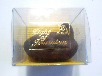 Ein Gedi Biblical Light Of Jerusalem Scented Candle In A Clay Lamp Holder.