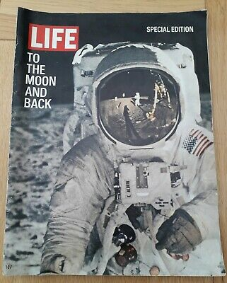 Rare LIFE Magazine 1969 Special Edition To the Moon And Back Armstrong Good Cond