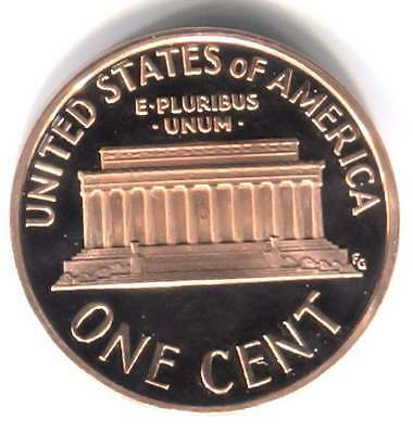 2001 S Cameo Proof Lincoln Memorial Penny - One Cent Coin San Francisco Mint