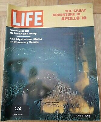 Rare LIFE Magazine June 9 1969 The Great Adventure of Apollo 10 Good Condition