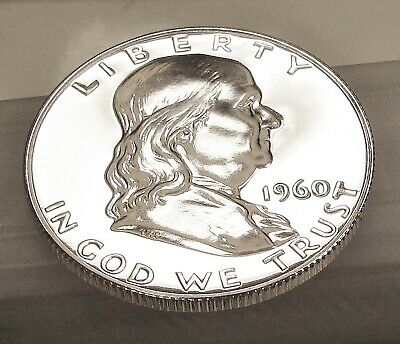 1960 Franklin  Proof   90%  Silver  > Blazing  Mirrored  Surfaces  <  #407  10