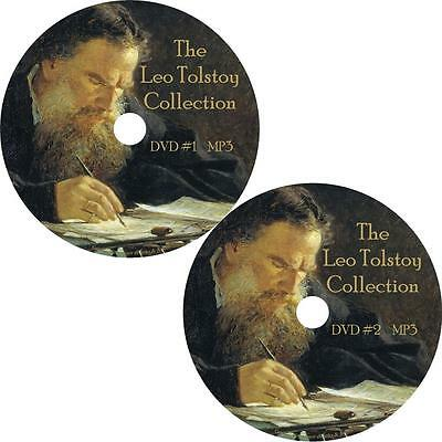 Leo Tolstoy Audio Book Collection on 2 MP3 DVDs War Peace Anna God Man FREE SHIP