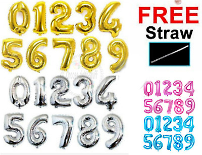 """30"""" 40"""" Giant Foil Number Balloons letter Air Helium Birthday Age Party Wedding"""