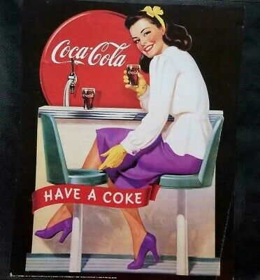 """Coca Cola Coke Poster 1932 Olympic Photo Exhibit 22/"""" X 28/"""" 1984 Limited Edition"""